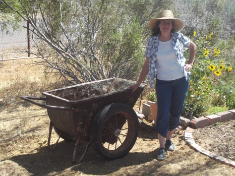 . . . with an old mining cart