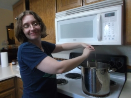 Home canning with daughter, Tiffany